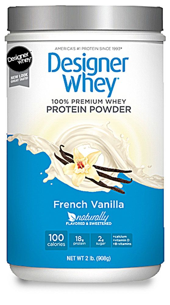 Designer Whey Protein Powder French Vanilla, so I don't have to choose between protein shakes and fruity smoothies! #Vitacost