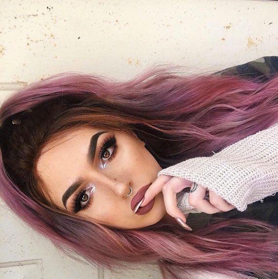 Smokey pink Mauve Hair Dye by LunarTidesHair on Etsy