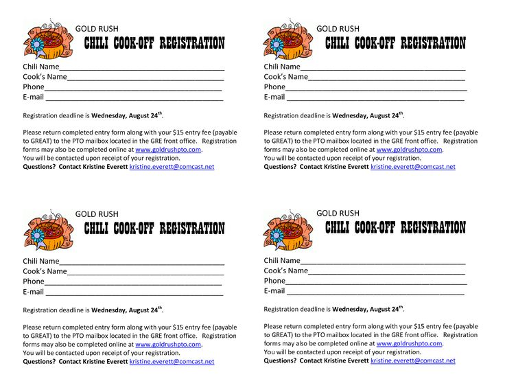 chili cook off entry form template - Anta.expocoaching.co