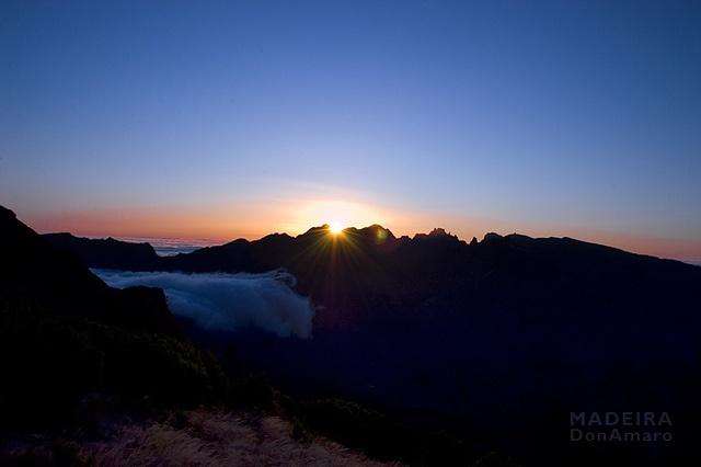 Madeira Sunrise taken from the high plains of Paúl da Serra.