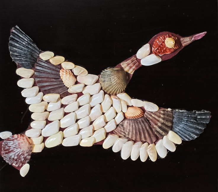 Fun Art and Learning activity for kids - Seashell Picasso Mosaic Kit - Duck - Create your own mosaic with seashells. Ordered and sold many times! Great gift for someone special...