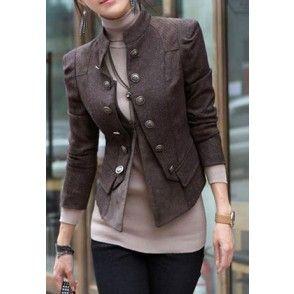 Elegant Double Breast Jacket