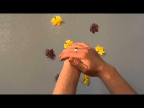 Blätterfall - Herbstlied für Kinder (Fingerspiel) - YouTube