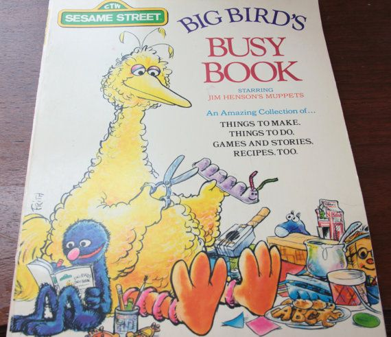 Items Similar To Vintage Sesame Street Big Birds Busy Book Kids Activity With Jim Hensons Muppets Scrapbook Nursery Decor Teaching Homeschool On