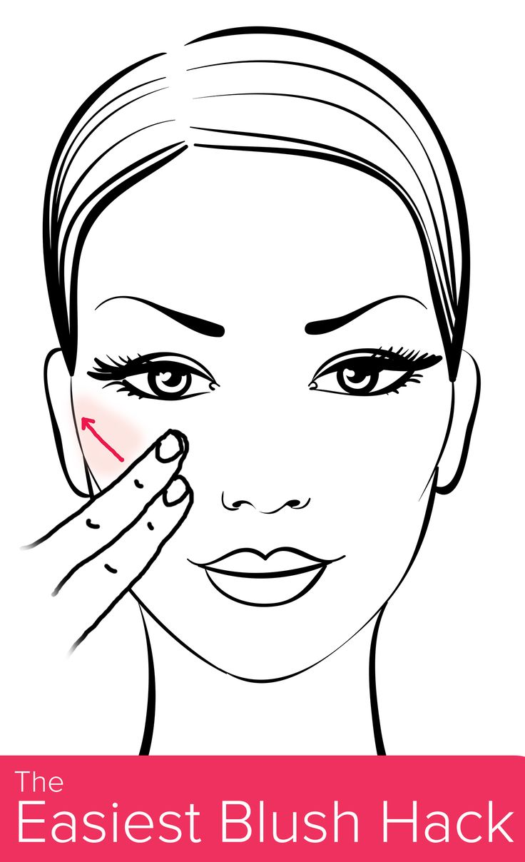 This easy hack will help you apply your blush in just the right spot on your cheeks. You'll have gorgeous high cheekbones in seconds.