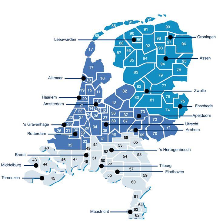 Rayonindeling Nederland