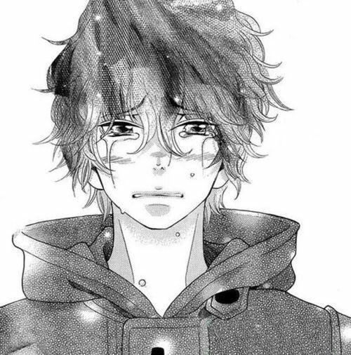 cry anime boy   Tumblr