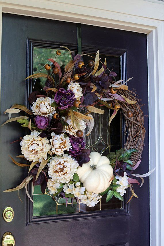 Fall Wreaths For Front Door Farmhouse