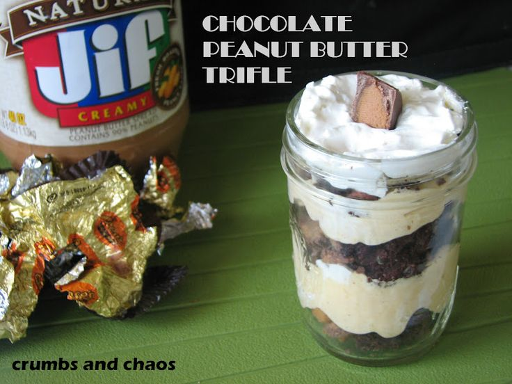 Individual Chocolate Peanut Butter Triffle: Desserts, Chao, Chocolates Peanut Butter, Individual Chocolates, Pb Trifles, Crumb, Butter Trifles, Chocolates Pb, Chocolate Peanut Butter