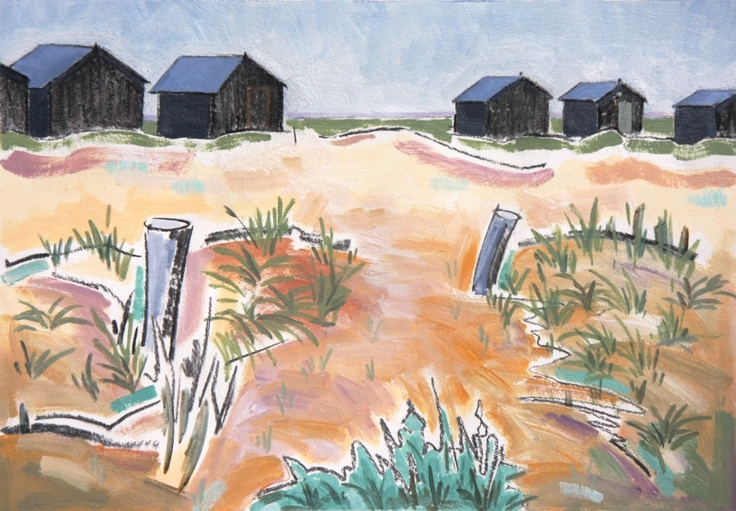 Tar Huts - Walberswick  These huts are scattered in groups of 2's and 3's around the dunes with little paths leading down to the shoreline. £600