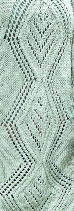 Large Diamond Lace Panel Knit Stitch. More Great Patterns Like This