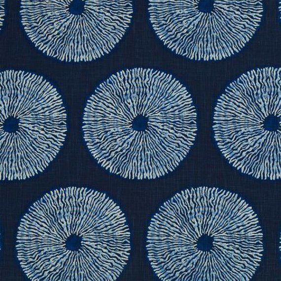 Shibori Indigo Blue Medallion Upholstery Fabric Yardage, Modern Drapery Fabric, 15.19 http://www.ebay.com/itm/Shibori-Indigo-Blue-Medallion-Upholstery-Fabric-Yardage-Modern-Drapery-Fabric-/263001418549?hash=item3d3c1b2b35:g:ZW0AAOSwsW9YwU-J
