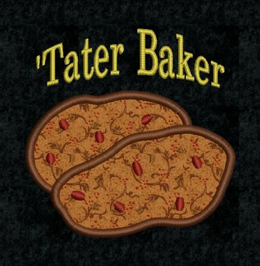Tater Baker Embroidery Design