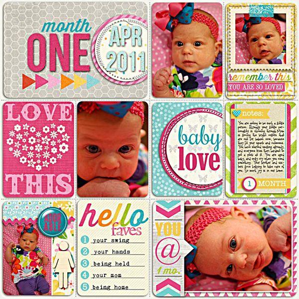 Hannah Month 1 - Scrapbook.com