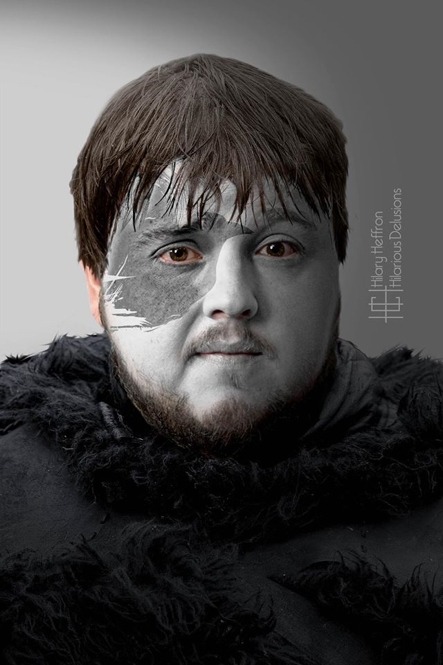 Samwell Tarly | Game of Thrones War Paint by Hilary Heffron - Hilarious Delusions