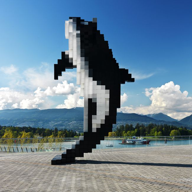 digital orca, by Douglas Coupland, Vancouver