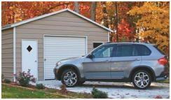 Find practical metal garages at AlansFactoryOutlet.com