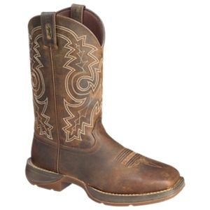Durango Rebel 12'' Steel Toe Pull-On Western Boots for Men - Dark Brown - 10.5 M