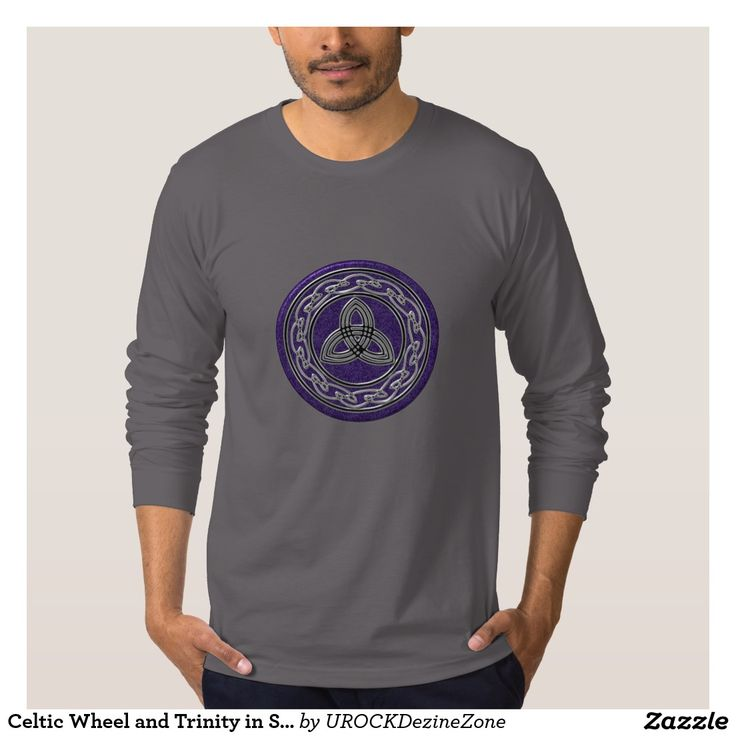 #Celtic Wheel and #Trinity in Silver and Purple #T Shirt  #zazzle