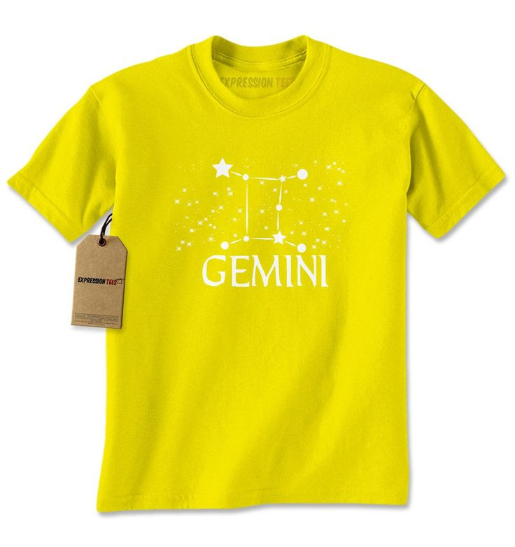 Gemini Zodiac Star Chart Mens T-shirt