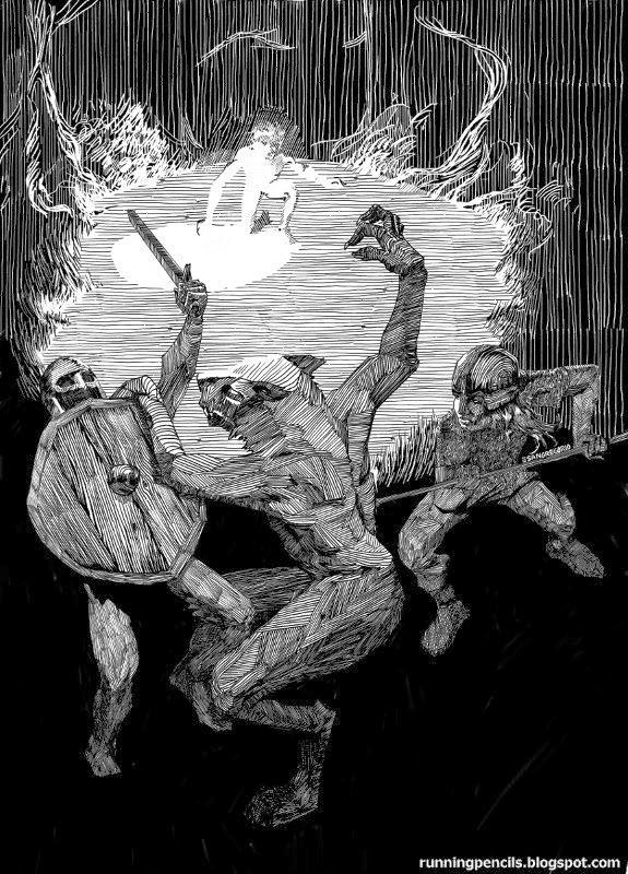 2 vikings 1 werewolf