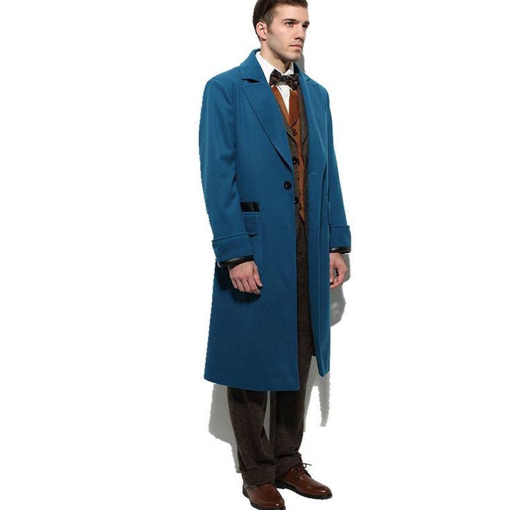 amazoncom affect shop blue overcoat for men halloween cosplay costume clothing newt scamander pinterest halloween cosplay and fantastic beasts - Amazon Halloween Costumes Men