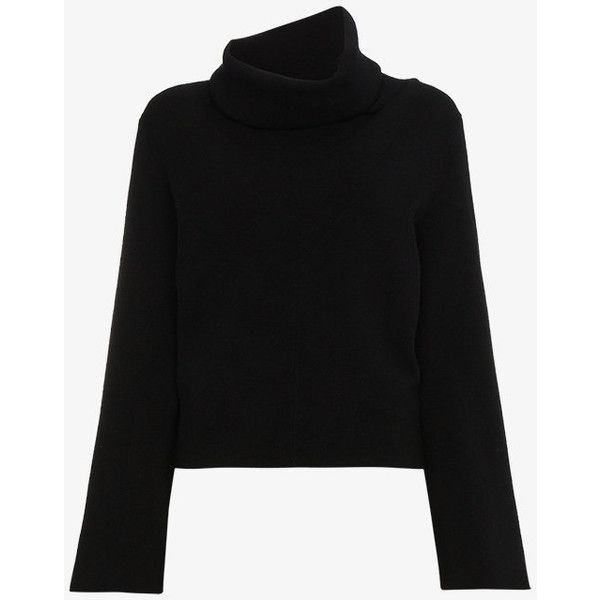 Chloé Cashmere Turtle Neck Jumper ($1,305) ❤ liked on Polyvore featuring tops, sweaters, black, polo neck sweater, cashmere top, wool cashmere sweater, jumper tops and cashmere turtleneck sweaters
