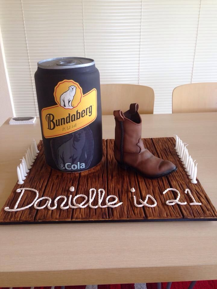 3d bundy can cake with cowgirl boot cake.