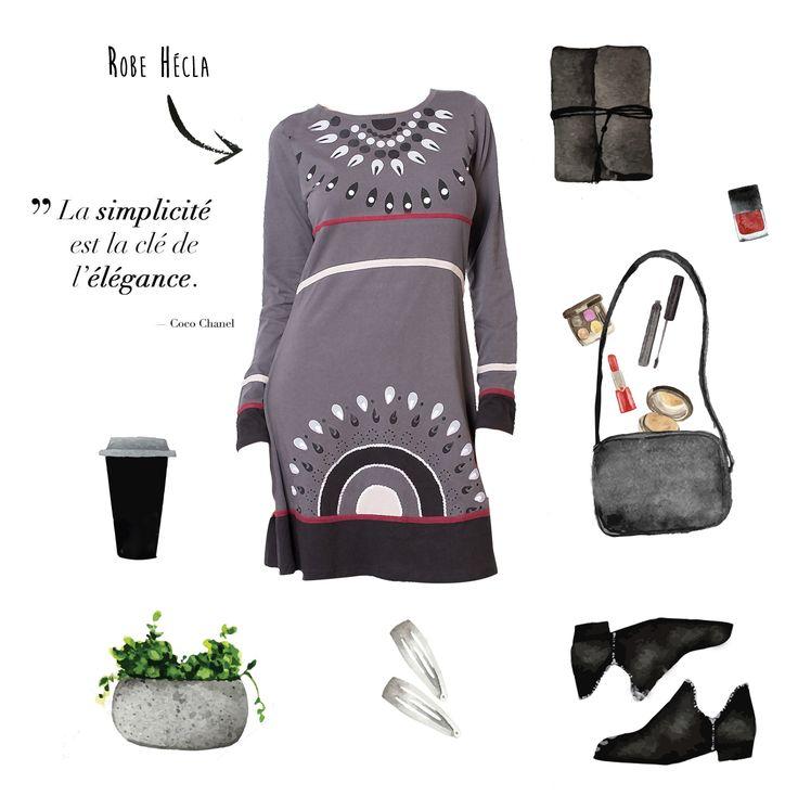 Look Elégance work http://www.cotondumonde.com/robe-hecla-noir-12140