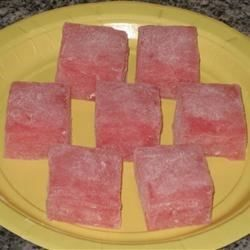 Soft and chewy Japanese dessert.  A tradition of boy's or girl's day.  Great for a snack for picnics or parties. This recipe is easy to make, but do not try cheating and double it.  The directions should be followed exactly.