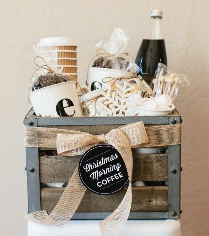 idee de panier DIY pour les amateurs du café, cadeau de noel a fabriquer de ses propres mains