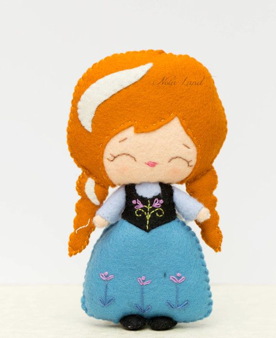 PDF. Anna. Plush Doll Pattern Softie Pattern Soft felt от Noialand