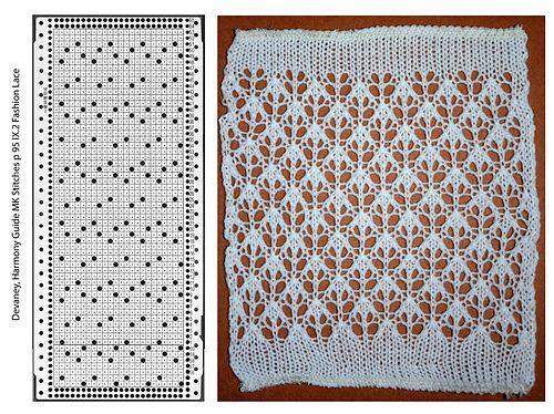 Beautiful machine knit lace: