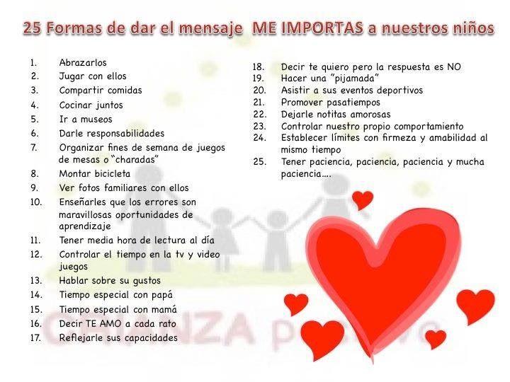 25 formas de decir... Me importas!!!