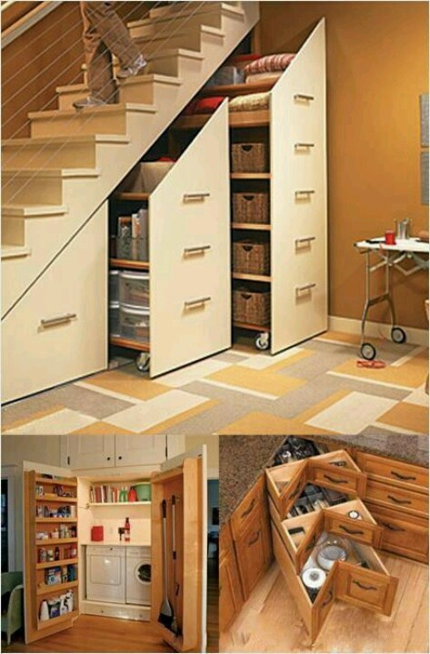 I chose this because it's absolutely brilliant! It would be a great set up for the lazy and also the organizational kind.