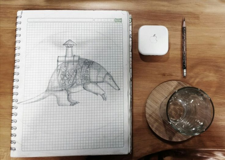 Illustration, sketch, steam punk