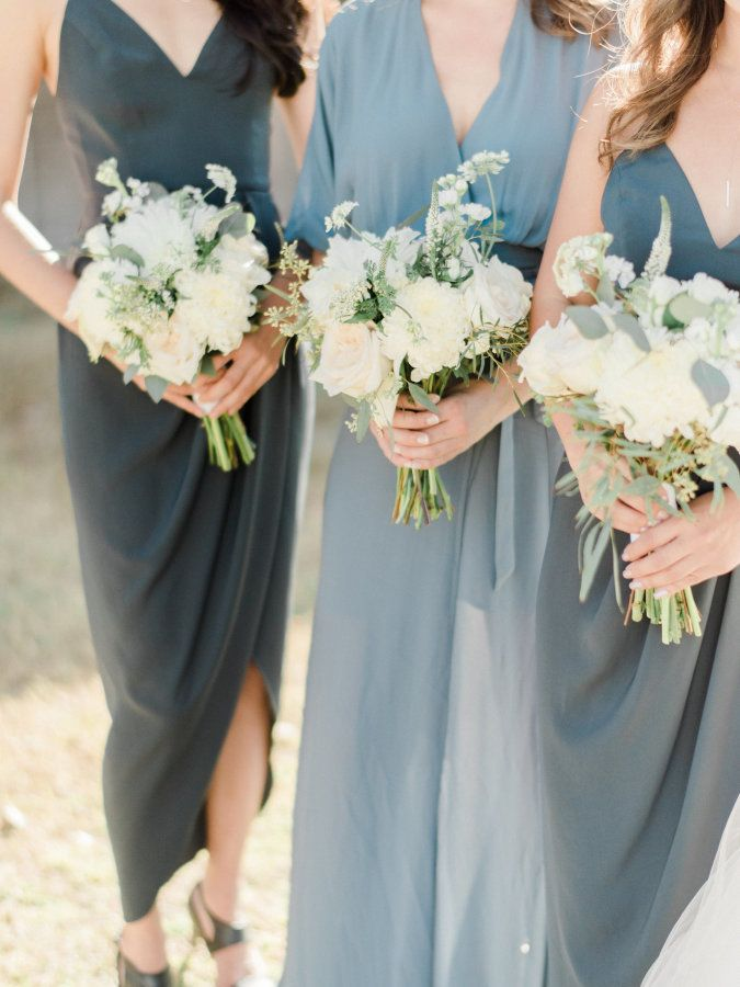 Slate blue hued bridesmaids dresses: Photography: Ether & Smith - http://etherandsmith.com/