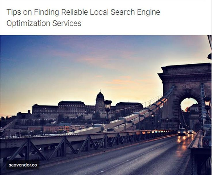 http://seovendor.co/tips-on-finding-reliable-local-search-engine-optimization-services/ | Tips on Finding Reliable Local Search Engine Optimization Services - Many local search engine optimization services will do more than just tailor SEO for your website. Many of them will help you find customers or will work on your marketing strategies with you. Try to find a service that offers a broad range of services because you'll probably need these services as well. For example, some services…