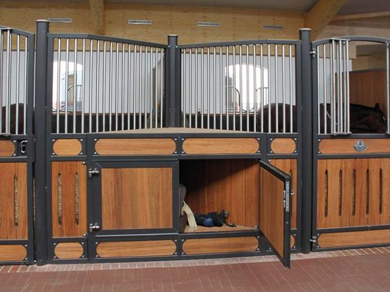 These Clever Stall Fronts Are Angled Creating A Space For Storage Beautiful AND Smart Brilliant Ideas Equestrian Life