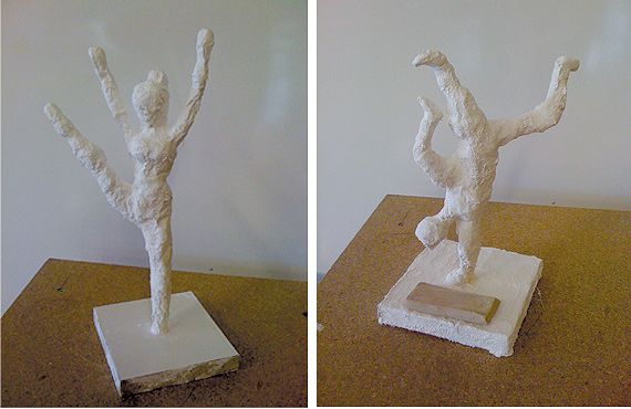 papier-mache or plaster figurines - 8th?