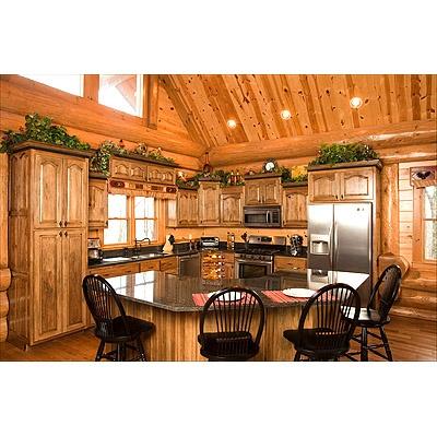 Greenery Above Kitchen Cabinets