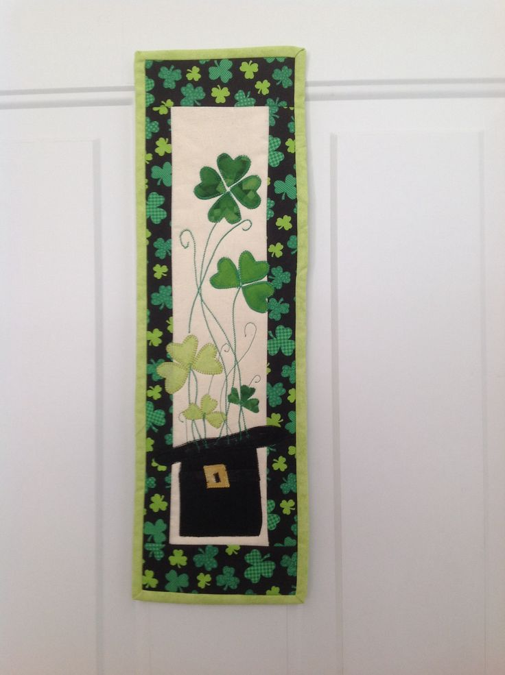 St Patrick S Day Wall Hanging Sew Much Fun Pinterest