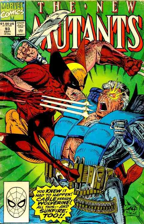 The New Mutants #93, September 1990, cover by Rob Liefeld and Todd McFarlane