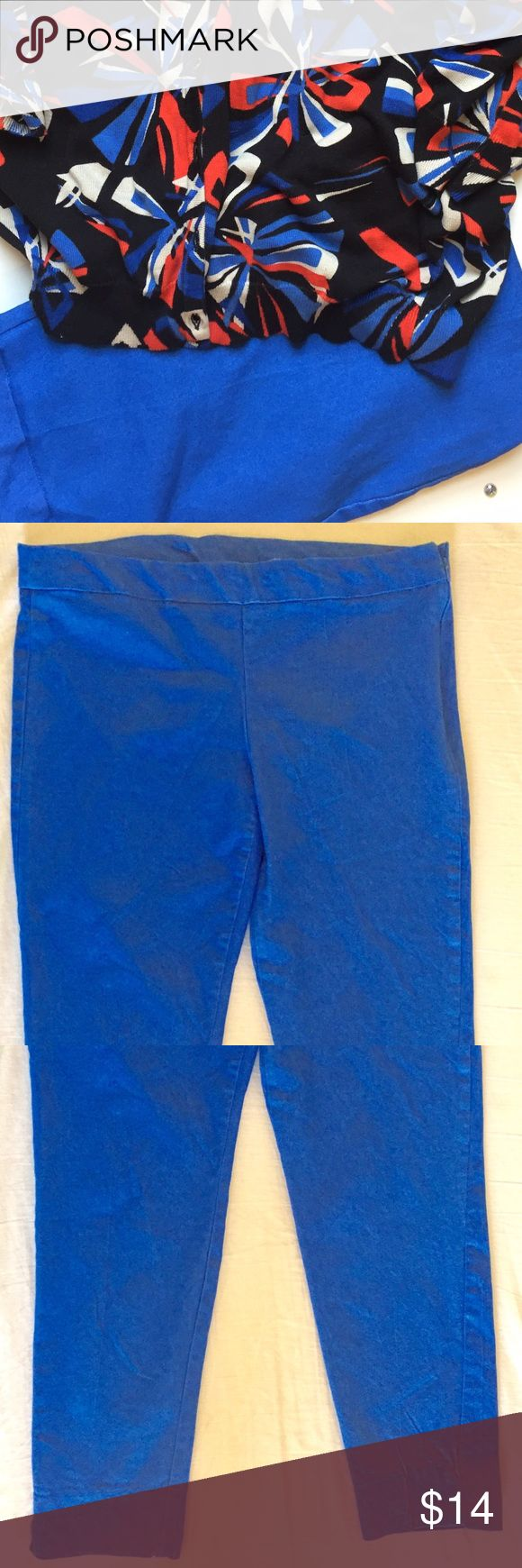 Spandex Bright Blue Jeans Great Looking Spandex Bright Blue Pants Size 10 MY COLLECTION Pants Skinny