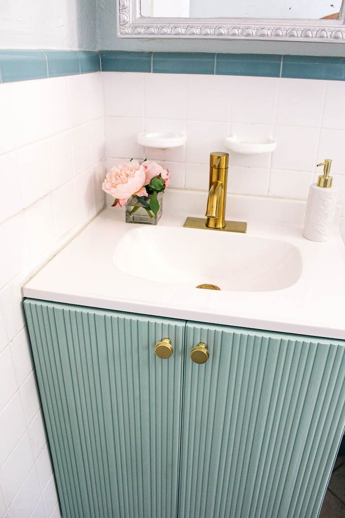 How Do You Change A 3 Hole Faucet To 1 Hole At Home With Ashley In 2020 Faucet Gold Bathroom Faucet Bathroom Faucets