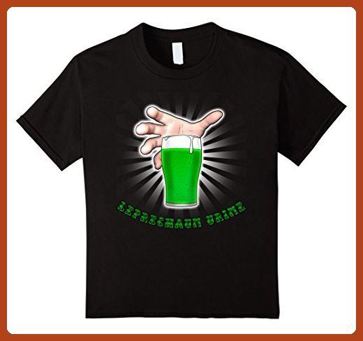 Kids Leprechaun Urine Green Beer St Patty's Day Irish Ireland 6 Black - Food and drink shirts (*Partner-Link)