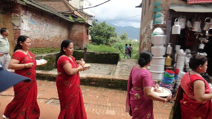 women in Katmandu (nepal)