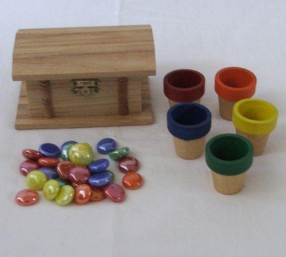 Treasure Chest - Montessori Color Sorting Activity. $12.00, via Etsy.