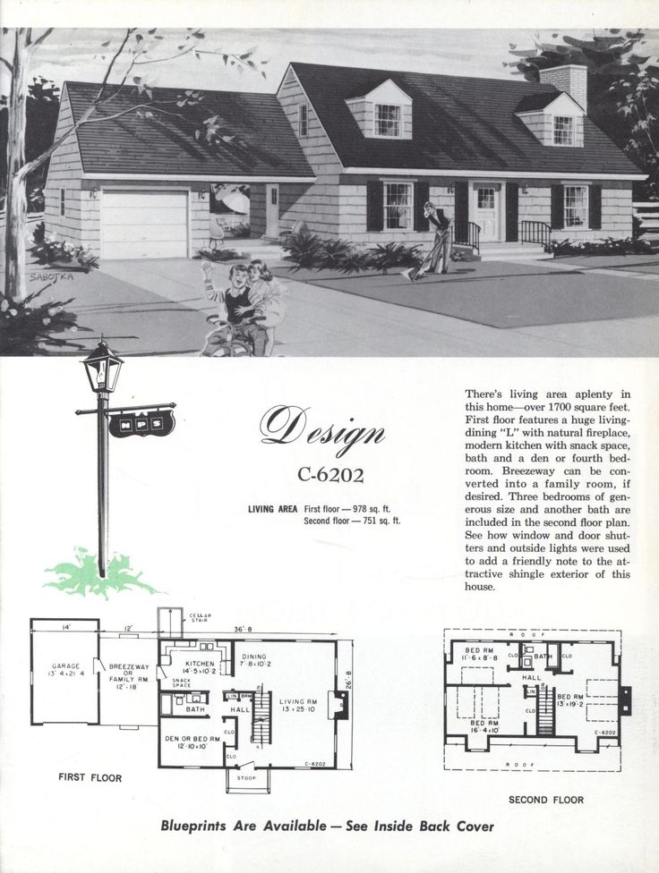 Colonial homes 1963 vintage house plans 1960s for 1960s house plans