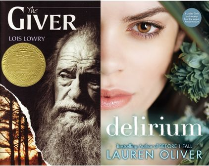 """Brave (Not So) New Worlds in Dystopian Fiction - In the worlds of both """"The Giver"""" and """"Delirium,"""" children are given a cure to quell romantic feelings as they put the individual before the community. ~ Hope"""